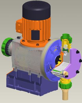 Motor metering pumps of the Sigma series protect the environment with their multilayer safety diaphragm.