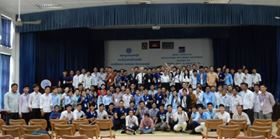 The participants of an Ebara pump seminar in Cambodia.