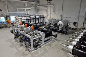 The Norwater factory where high pressure pumps are used in its reverse osmosis systems.