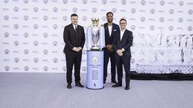 Pictured at the launch event at Singapore International Water Week (l-r): Damian Willoughby, Senior VP of Partnership at City Football Group, former Manchester City player Joleon Lescott, and Patrick Decker, president and CEO of Xylem Inc.