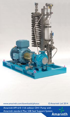 The Amarinth API 610 OH1 B Series Pump with Plan 53B Seal Support system deployed on the Subsea Well Response Project.