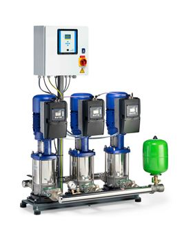 The new KSB Delta Primo are ready-to-connect, fully automatic pressure booster systems, fitted with two or three high-pressure pumps.  (Image: KSB)