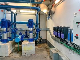 A hospital's water supply is optimised with VFD technology.