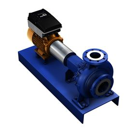 MyFlow Drive allows the pump operator to increase or reduce the volume flow rate with just a few simple adjustments. ©KSB Aktiengesellschaft, Frankenthal