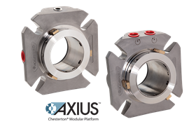 The first mechanical seals offered on the AXIUS platform are the Chesterton 1810 single cartridge and 2810 double cartridge heavy duty modular cartridge seals.