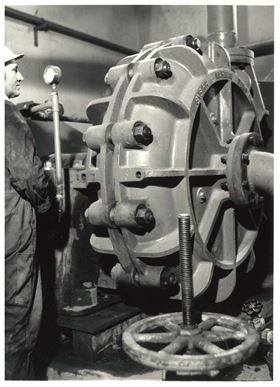 A Warman pump in the 1950s.