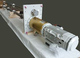 An Amarinth API 610 VS4 vertical pump being packaged ready for shipment to Metito.