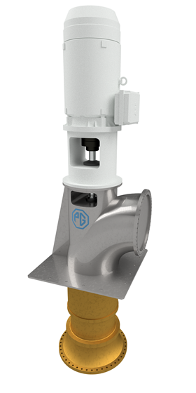 An artist's illustration of the pump type that PG Flow Solutions will deliver to Keppel Shipyard.