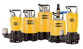 Atlas Copco line-up of small rental and construction pumps