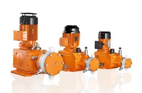 ProMinent's Hydro hydraulic diaphragm metering pumps offer stroke lengths from 0 to 40 mm.