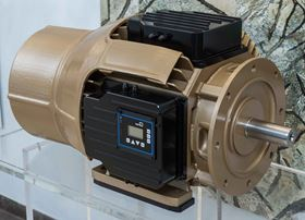The prototype of a 22-kW synchronous reluctance motor from KSB demonstrates the potential that modern silicon carbide components offer in terms of heat management and increased output per size.