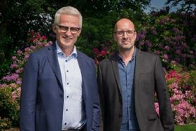 Grundfos CEO Mads Nipper (left) and Médecins Sans Frontières' Jesper Brix (right).