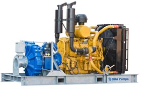BBA BA-C250 bolt on pump package for offshore industry.