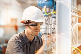 LEWA's bi-directional smart glasses connect a service technician through shared vision to see the plant through the eyes of the on-site technician when a malfunction occurs.