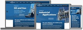 Ruhrpumpen's new website  has been developed to be compatible with today's browsers and mobile devices.