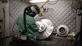 Specialist cleaning and polishing equipment complete the process.