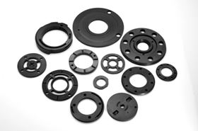 Carbon-graphite components provide superior lubrication in most environments.