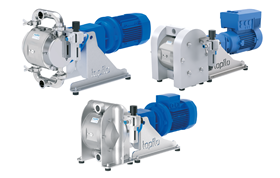 The EODD pump has an almost identical design of the wetted side as the company's standard AODD pump.