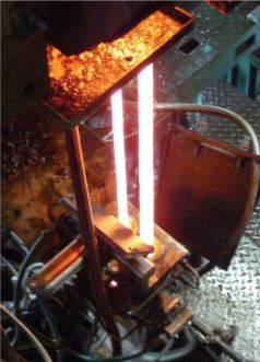 Figure 1b. Glass production – forming at high temperature.