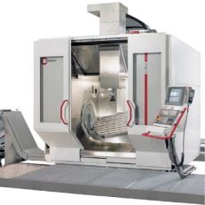 Figure 4. The milling machine used, the C50U by Hermle, permits rotational speeds of up to 18,000 rpm. Given the required traverse speeds in the range of 4000–6000 mm/min, it was highly suitable for the successful implementation of the project.