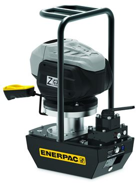 The Enerpac ZC-Series hydraulic pump is designed for remote industrial locations.