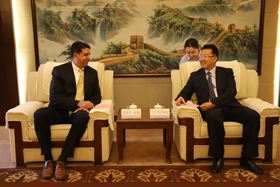 (From left) Ashish Dutta, VP Circor China and Industrial APAC, and Lv Xiaodong, Director-General of Administrative Committee & Party Secretary - General of CPC of ETDZ.