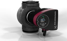 Grundfos' MAGNA3 pump features compact, intelligent circulator pumps fitted with built-in sensors.