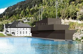 A rendering of the new Ritom pumped storage power plant in Switzerland (Source: SBB).