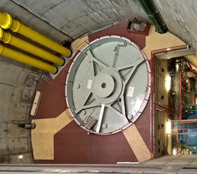 Generator at the pumped storage power plant Vianden in Luxembourg.