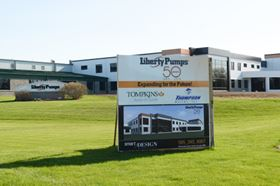 Liberty Pumps' facility in Bergen, New York.