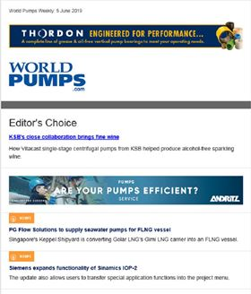 The latest issue of the World Pumps weekly newsletter.