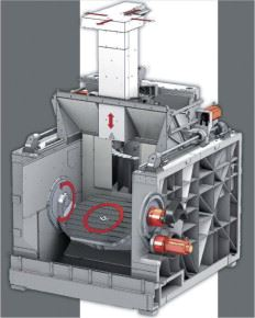 Figure 1. 5-axis milling machines permit fast, dimensionally precise production of complex parts, whereby the size of the machines limits the dimensions of the workpiece. Sulzer Innotec manufactures large impellers using this process.