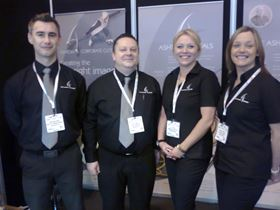 The Ashton Group at the NEC. Left to right: Mathew Wood, Philip Dooley, Zoë Fearnley and Sarah Taylor.