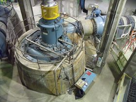 Figure 2. One of the original KSB ME pumps installed when the plant was constructed. (Image: KSB)