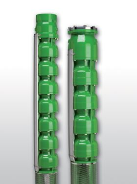 Rovatti's new 16EX series of 16 in AISI 316 casted stainless steel electric borehole pumps.