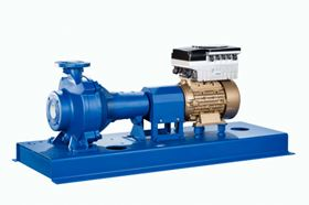 KSB's Sewatec waste water pump with SuPremE motor and PumpDrive variable speed system which will be on display at Wasser Berlin International