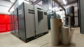The Atlas Copco compressors in place in the Dish Cell building