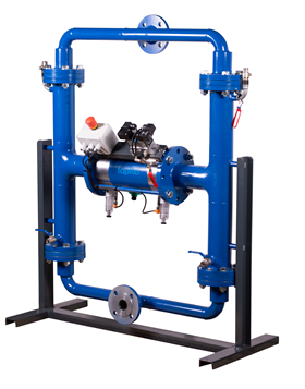 The pump is designed for demanding applications where liquid is transferred to the filter press.