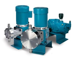 Neptune's 7000 series of mechanically actuated diaphragm metering pumps.