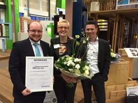 From left to right: Pentair's Jens Potreck (R& D Manager X-Flow), Marion Slaghuis (Communication Coordinator) and Mark Steggink (Global Sales Director Engineered Membrane Systems).