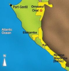 The pipeline runs from Onal to Coucal, near Port-Gentil in Gabon, on the western coast of Africa.