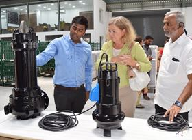 Left to right: Kanishka Arumugam, Karin Stoll and P Arumugam.