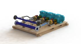 The combined Hydra-Cell G35 pumps can deliver 420 litres per minute
