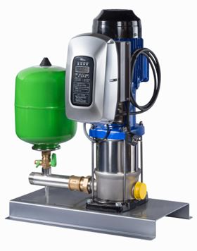 The new, fully automatic single-pump package pressure booster system Hya-Solo EV (KSB Aktiengesellschaft, Frankenthal)