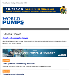 World Pumps Weekly Newsletter