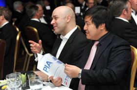 David Rozee (left), Managing Director of Triark Pumps, at last year's event.
