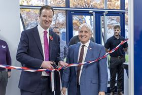 Rotherham Council leader Chris Read (left) with Aesseal managing director Chris Rea.