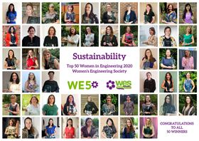 This year's WE50 awards celebrate female engineers who have made a significant contribution to sustainability within the industry.