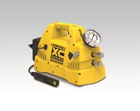 The Enerpac XC-Series battery torque wrench pump with pendant.