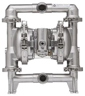 The ARO FDA-compliant pump now features a single-piece diaphragm with an over-molded design.